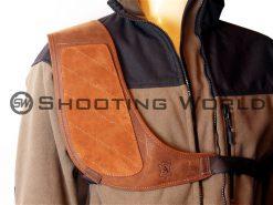 Artipel lövéstompító, bőr, lövéstompító vállvédő, vállvédő, bőrből, vízálló, vadász kiegészítő, sportlövő kiegészítő
