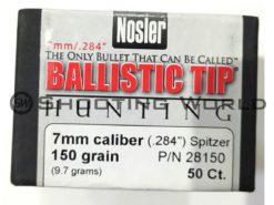 Nosler BallisticTip Hunting (7 mm/cal.284 150 grain) 50 db/cs