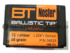 Nosler Ballistic Tip Varmint 5.6mm/cal.224 55 grain 100 db/cs