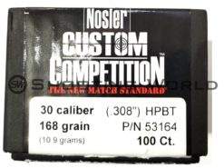 Nosler HPBT (30 cal 168 grain) 100 db/cs