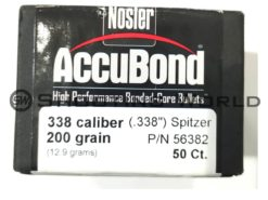 Nosler Accubond 338 cal. 200 grain lövedék